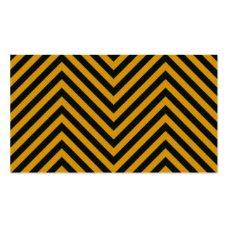 Zig Zag Hazard Striped Business Cards