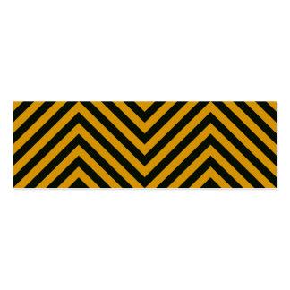 Zig Zag Hazard Striped Business Card Templates