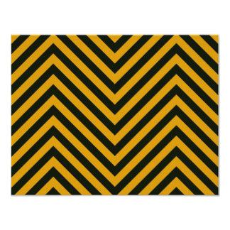 Zig Zag Hazard Striped Card