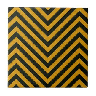 Zig Zag Hazard Striped Tiles