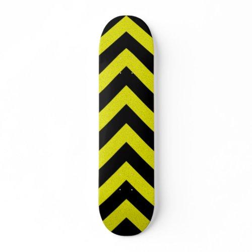 zig zag hazard stripes skateboard skateboard