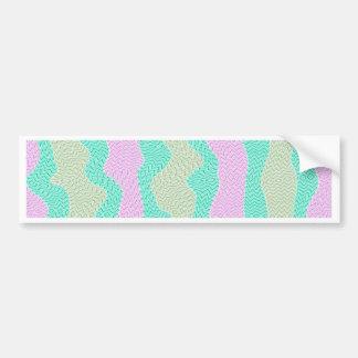 Zig Zag, Mess, pink (C) Bumper Stickers