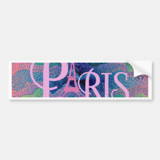 Zig Zag PARIS Bumper Stickers