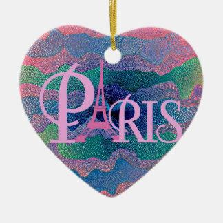 Zig Zag PARIS Ceramic Ornament