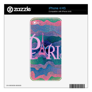 Zig Zag PARIS Skin For The iPhone 4S
