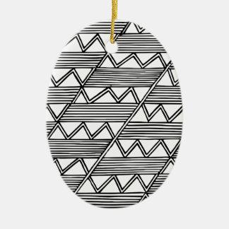 Zig Zag Pattern Ceramic Ornament