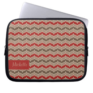 Zig Zag Pattern Laptop Sleeve with Your Name