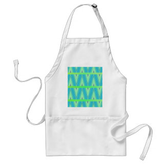 Zig Zag pattern light blue and green 1 by Tutti Adult Apron