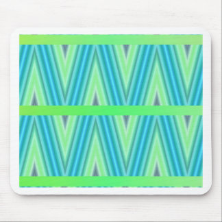 Zig Zag pattern light blue and green 1 by Tutti Mouse Pad