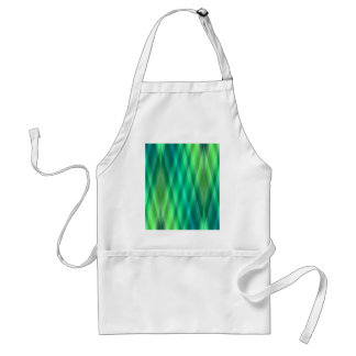 Zig Zag pattern light blue and green 2 by Tutti Adult Apron