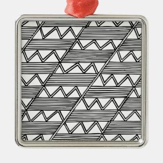 Zig Zag Pattern Metal Ornament
