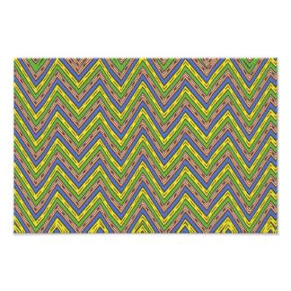 Zig zag pattern photographic print