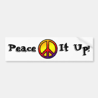 Zig Zag Peace Bumper Sticker