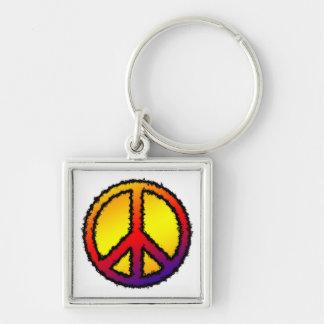 Zig Zag Peace Key Chain