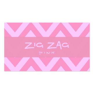 Zig Zag Pink Double-Sided Standard Business Cards (Pack Of 100)