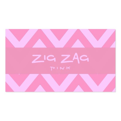 Zig Zag Pink Business Card Template