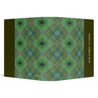 Zig Zag Plaid Personalized Avery Binder binder