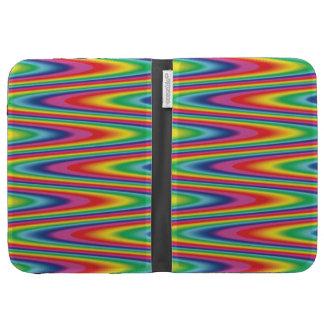 Zig Zag Psychedelic Rainbow Pattern Kindle Folio Case