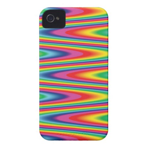 Zig Zag Psychedelic Rainbow Pattern iPhone 4 Case-Mate Case