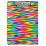 Zig Zag Psychedelic Rainbow Pattern Clipboards