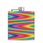 Zig Zag Psychedelic Rainbow Pattern Flask
