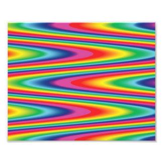 Zig Zag Psychedelic Rainbow Pattern Photo