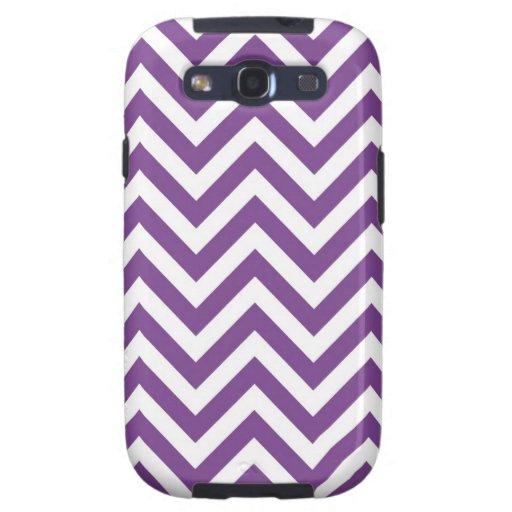 Zig Zag Purple and white striped Template Pattern Samsung Galaxy SIII Case