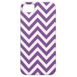 Zig Zag Purple and white striped Template Pattern iPhone 5 Covers