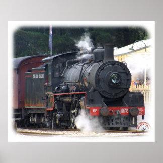 Zig Zag Railway Steam Locomotive 9J53D-14 Poster
