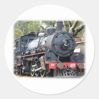 Zig Zag Railway Steam Locomotive 9J54D-01 Classic Round Sticker