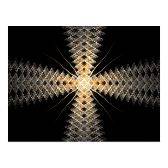 Zig Zag Rays of Light Fractal Art Postcard