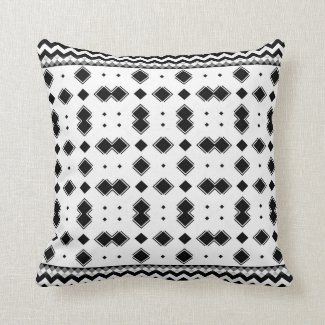 Zig Zag romb Throw Pillow