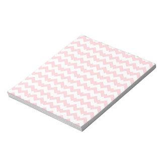 Zig Zag rosa y blanco Blocs De Notas