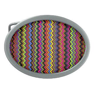 Zig-Zag Stripe Belt Buckle