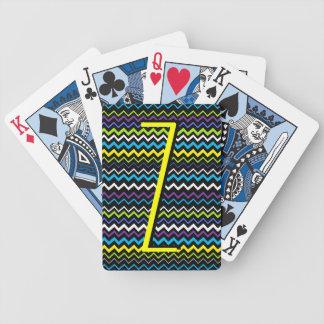 Zig-Zag Stripe Bicycle Playing Cards