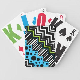 Zig-Zag Stripe Dot Bicycle Playing Cards