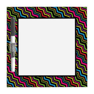 Zig-Zag Stripe Dry-Erase Board