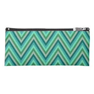 Zig Zag Striped Background Pencil Case