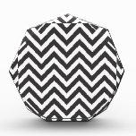 Zig Zag Striped Pattern Zazzle Template Background Acrylic Award