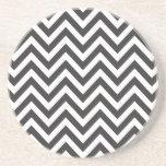 Zig Zag Striped Pattern Zazzle Template Background Beverage Coasters