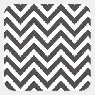 Zig Zag Striped Pattern Zazzle Template Background Square Sticker