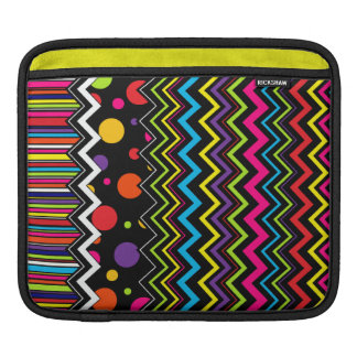 Zig-Zag Stripes & Dots Sleeve For iPads