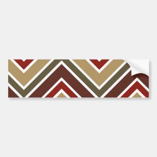Zig zag stripes pattern car bumper sticker