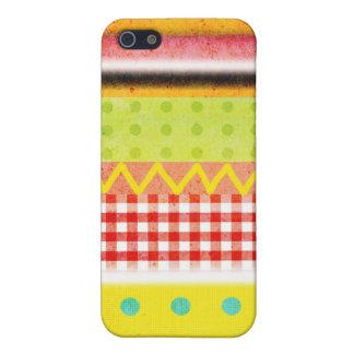 Zig Zag Vichy Pattern Polka Dots Grungy colors iPhone SE/5/5s Case