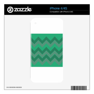 Zig zag vintage 50s stripes iPhone 4 decal