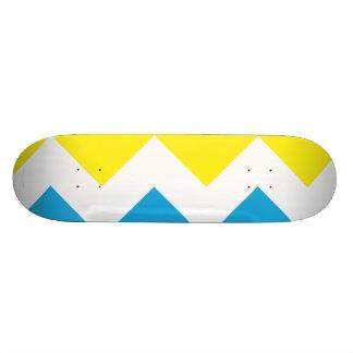 Zig Zag Yellow-Blue Skate Board