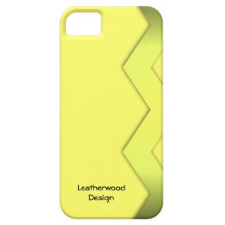 Zig Zag Yellow Personal iPhone 5/5S Case