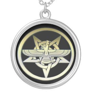 Ziggurat Etemenanki Silver Plated Necklace