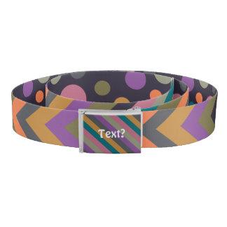 Ziggy Dotty Stripy Fall 2015 Colors Belt