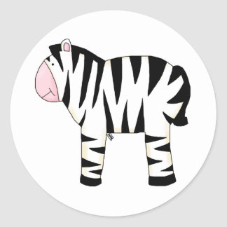 Ziggy the Zebra Fun Party, Name Tags Gifts,Sticker
